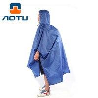 AOTU Multi Purpose Outdoor Poncho Raincoat Climbing Cycling Rain Cover Waterproof Camping Tent Mat Travel Equipment