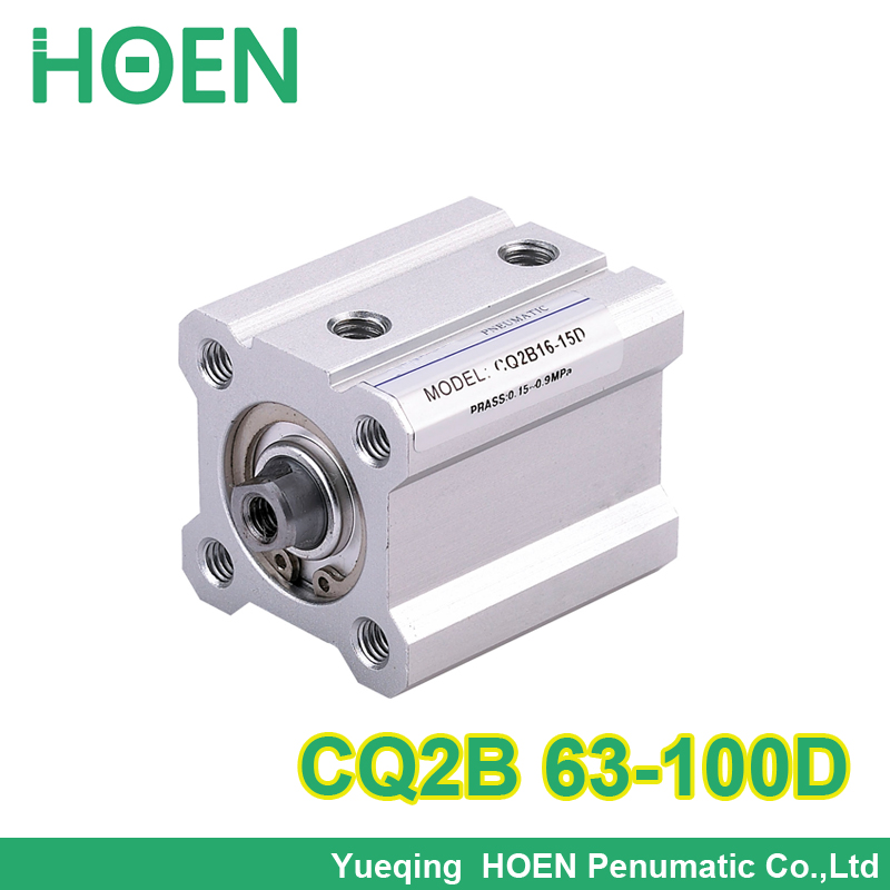 SMC Type CQ2B series CQ2B63-100D 63mm bore 100mm stroke Double Action single rod thin Pneumatic Compact Cylinder high quality acq100 75 b type airtac type aluminum alloy thin cylinder all new acq100 75 b series 100mm bore 75mm stroke