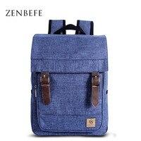 ZENBEFE Unisex Backpacks Vintage Backpack Fashion Canvas Backpack Leisure Travel Bag School Bags High Capacity Laptop