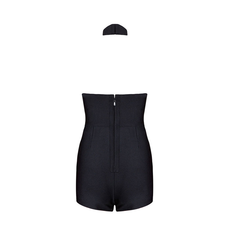 Women Summer Bodysuit Rompers Womens Jumpsuit Sexy V-neck Backless Sleeveless Playsuit Bodycon Bandage Jumpsuits Overalls DR911