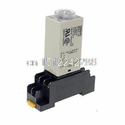 где купить 24VAC H3Y-2 Power On Time Delay Relay Solid-State Timer 0.2-5S DPDT 8Pins&Socket дешево