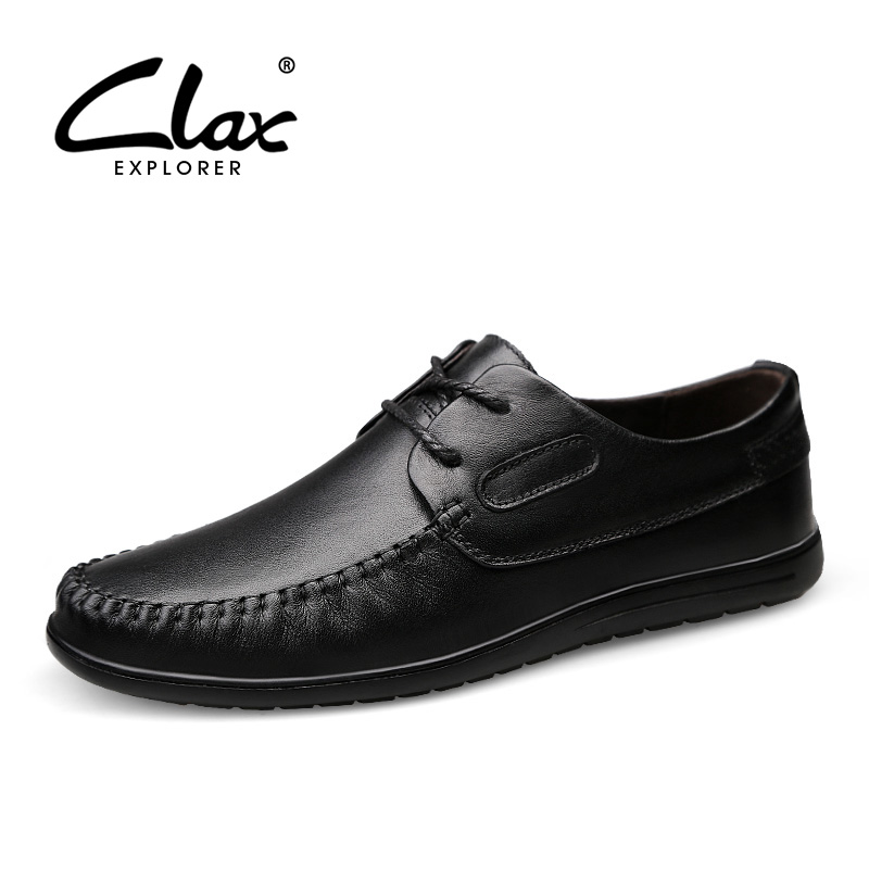 CLAX Mens Shoes Genuine Leather 2018 Spring Autumn Black Dress Derby Shoes Male Leather Footwear social chaussure homme ClassicCLAX Mens Shoes Genuine Leather 2018 Spring Autumn Black Dress Derby Shoes Male Leather Footwear social chaussure homme Classic
