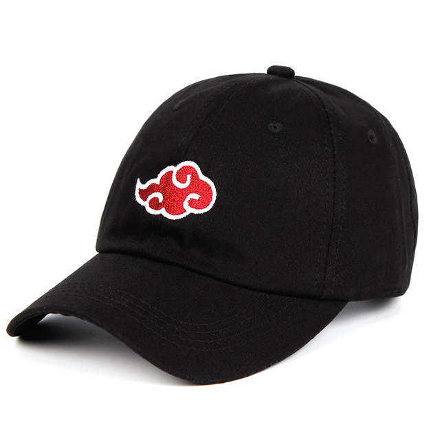 Anime Lovers Akatsuki Logo Dad Hat Uchiha Family Logo 100% Cotton Embroidery Baseball Caps Black Snapback Hat Red Cloud 1