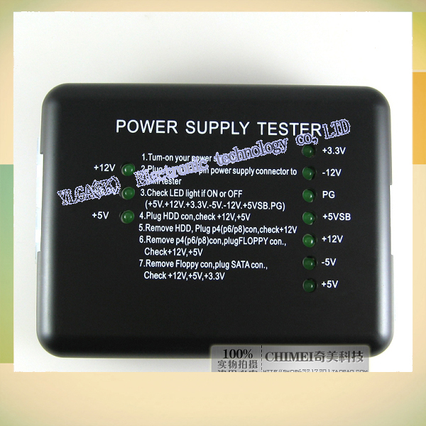 New ATX computer chassis supply tester desktop host diagnostics repair detection toolFree shipping