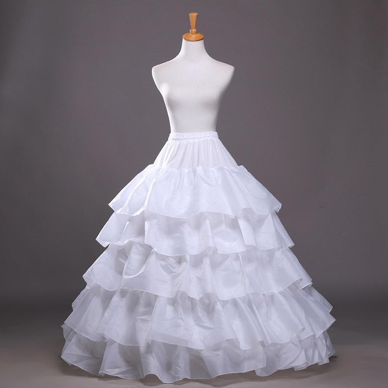 White Hoop Crinoline Long Wedding Bridal Petticoat Ball Gown Skirt Wedding Dress Underskirt Wedding Accessories