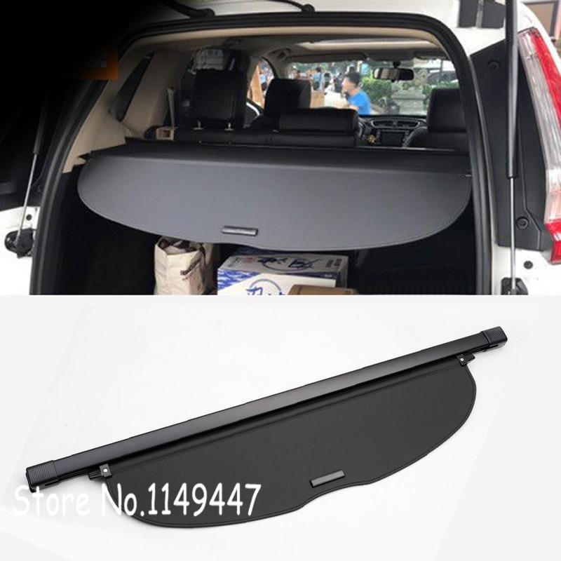 Alumimun Alloy and Fabric Black Interior Trunk Shade Cargo Cover For Honda CRV CR V 2017 2018 ...