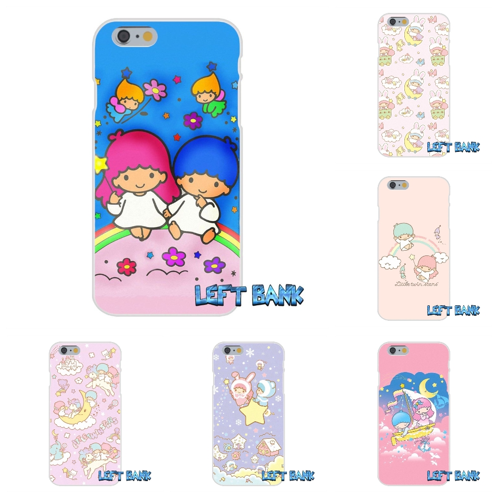 For iPhone 4 4S 5 5S 5C SE 6 6S 7 Plus little twin stars Soft Silicone TPU Transparent Cover Case