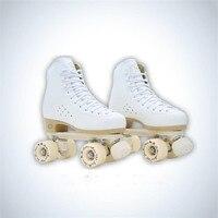 الأطفال الكبار الأبوة الزلاجات الرول الزلاجات صف مزدوج اثنان الخط أطفال pu عجلات الأسطوانة patins أبيض أسود أحمر أصفر IB09