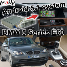 Android 5.1 GPS navigation box video interface for BMW E60 5 series CIC system cast screen youtube waze