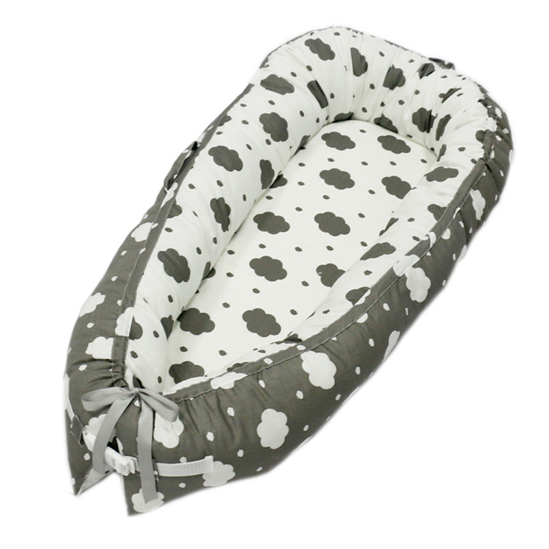 80*50 см детское гнездо кровать портативная кроватка дорожная кровать Младенческая Детская Хлопковая Колыбель для новорожденного Детская кровать люлька бампер - Цвет: BabyNest-C4