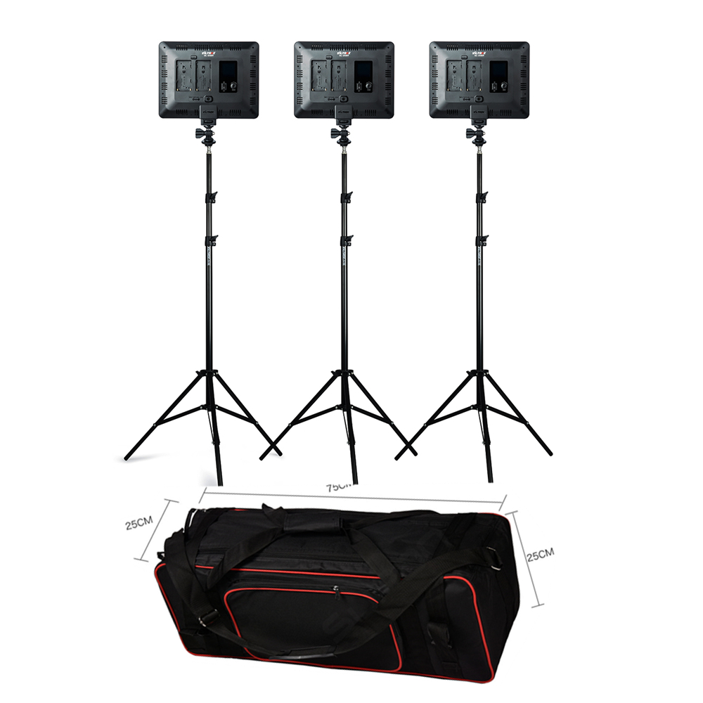 VILROX 3 pièces VL-200T Bi-couleur Dimmable Sans Fil à distance led éclairage vidéo Panneau Éclairage + pied de projecteur sac de transport pour Photo Studio