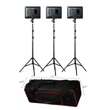 VILROX 3pcs VL-200T Bi-color Dimmable Wireless remote LED Video Light Panel Lighting + Light Stand Carry Bag for Photo Studio wireless remote control dimmable bi color 2pcs 300w led fresnel spotlight as arri hmi par light video equipment