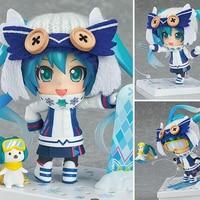 10cm anime figures Hatsune Miku snow owl nendoroid Hatsune Miku action figure Collection model toys birthday gifts