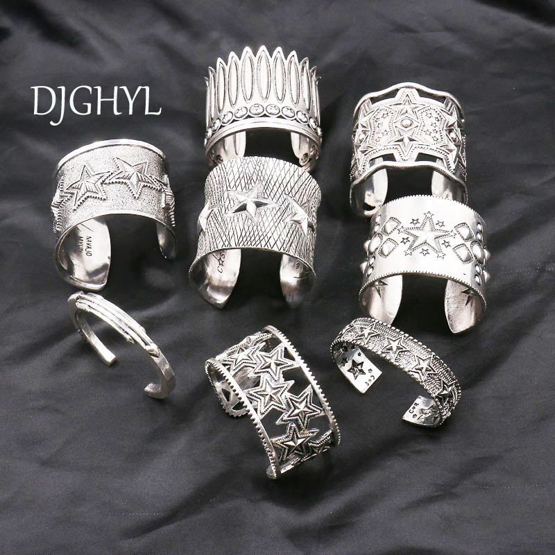 New punk Jewelry Big Open Wide Arm Cuff Bangle Bracelets For Women Boho Bohemia hollow silver