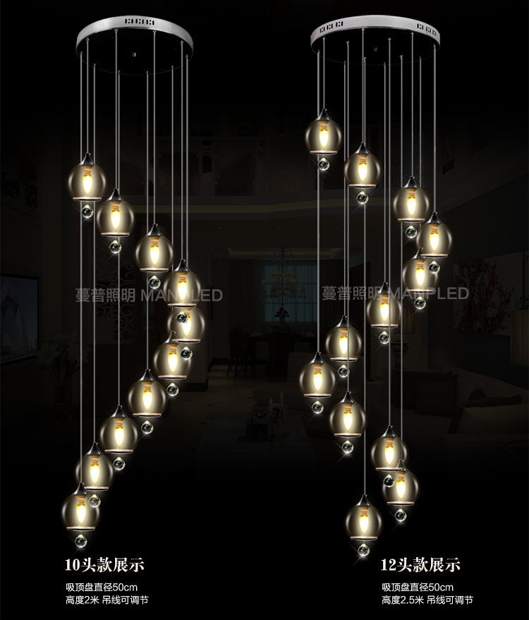 creative personality led pendant lamps Stairs lights Original modern double staircase simple style pendant light crystal lights bicycle shape led modern crystal pendant lamps unique creative latest popular style led pendant light free shipping