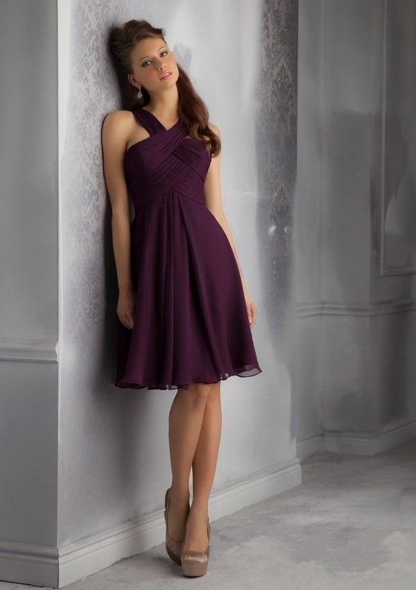 Online Buy Wholesale plum bridesmaids dresses from China plum ...
