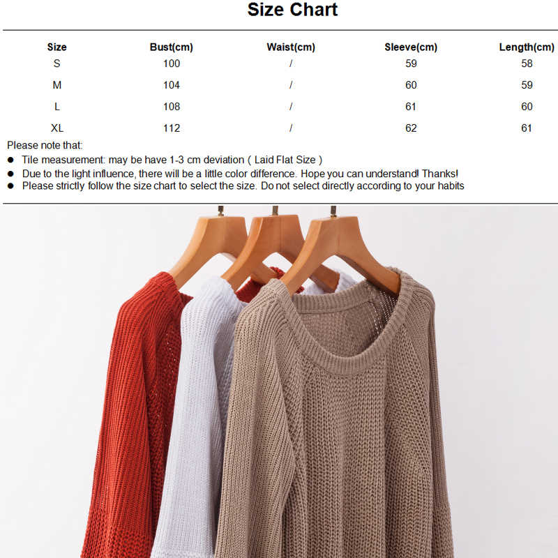 Ursohot Women's Jumpers Loose Pullovers Female Knitted Autumn Winter Ribbed Sweaters 2019 Casual Long Sleeve Warm Solid Sweaters