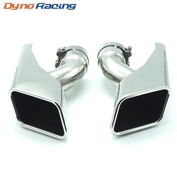 2PCS/Set Modified Car Exhaust Tail Muffler Tip Stainless Steel End Pipe For Land Rover 2005-2012 Range Rover Diesel