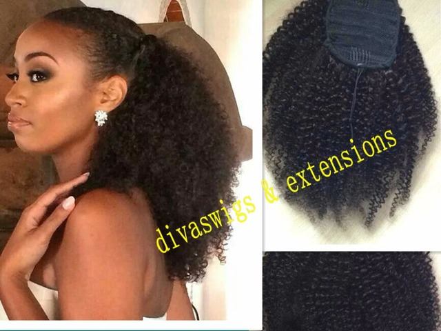 160g african american afro ponytail clip in kinky curly virgin 160g african american afro ponytail clip in kinky curly virgin brazilian hair drawstring ponytails hair extensions pmusecretfo Images