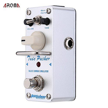 AROMA ATP-3 Guitar Effect Pedal Tube Pusher Valve Combo Simulator Electric Guitar Effect Pedal Mini Single Effect True Bypass aroma tomsline ach 3 mini chorus guitar pedal guitar effect pedal original