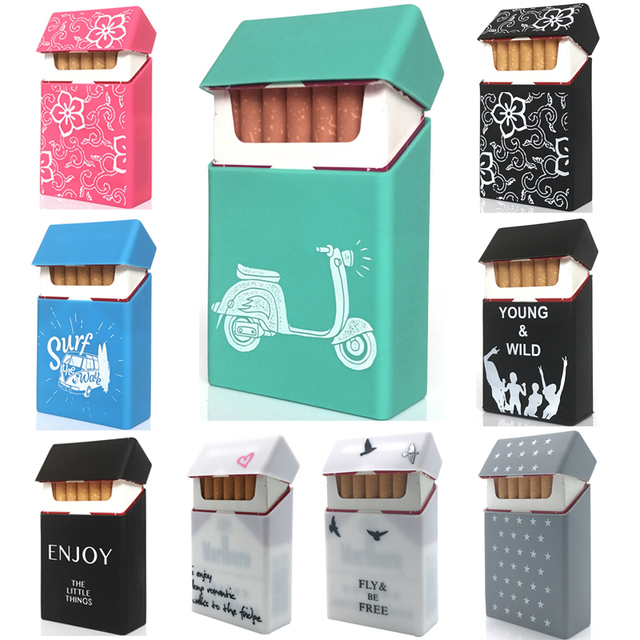 New Green Motorcycle ,Personality Silicone Cigarette Case  Cover Elastic Rubber Portable Man/Women Cigarette Box Sleeve