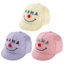 Baby Hat Cotton Printing Caps Spring Cartoon Cotton Letters Print Baby Baseball Hat Soft Brim Cap Funny Infant Beanie Hat(China)