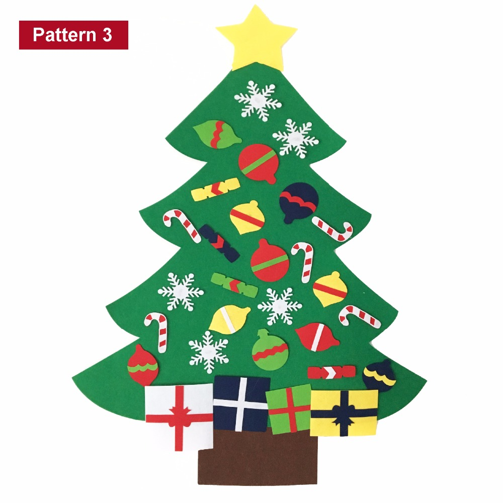aliexpresscom buy 2017 new kids diy felt christmas tree set with ornaments children gift toddler door wall hanging preschool craft xmas decoration from - Felt Christmas Tree For Kids