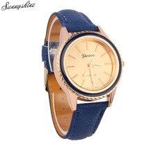Vogue Vogue Ladies Males's Watches Geneva Fake Leather-based Clock Analog Quartz Unisex Wrist Watch wholesale