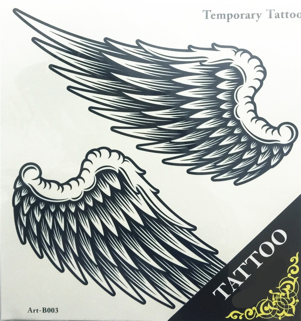 Angel Wings Raver Arm Leg Body Art Waterproof Temporary Tattoo Sticker women's make up Temporary tattoos 1