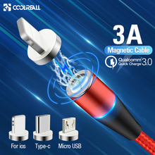 Coolreall Magnetic Micro USB Cable For iPhone Samsung Type-c Charging Charge Mag