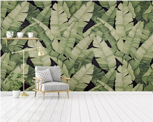 beibehang wallpaper for walls 3 d Modern hand-painted plant plantain leaves decorative painting papier peint mural 3d wall paper beibehang modern american wallpaper roll old wooden vintage wallpaper rolls wall paper papier peint mural wallpaper for walls 3d