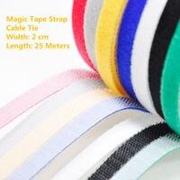 1PCS MT024 Magic Tape Strap Cable Tie Width 2 Cm Length 25 Meters Nylon Strap Hooks