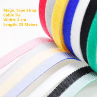 1PCS MT024 Magic Tape Strap Cable Tie Width 2 cm Length 25 Meters Nylon strap hooks & loops Free Shipping Sell at a Loss