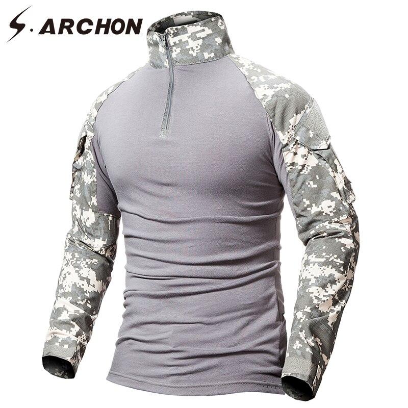 Military Camouflage Shirt Men  1
