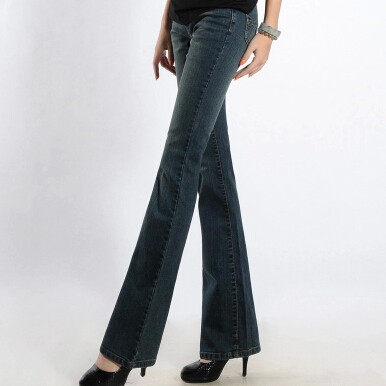 Весенние и летние женские повседневные тонкие джинсы размера плюс с высокой талией - Цвет: Синий