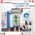 Super pack Sofi SP8-A + 5 adaptadores + IC braçadeira programador usb de Alta velocidade (93/24/25/BR90/SPI BIOS) apoio Win7 64 bits Win 8!
