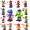 5 unids/set new super man hulk iron man spiderman 8.5 cm ladrillos loz diamond building blocks juguetes sin caja original pokemon