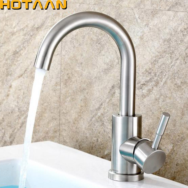 brass faucet kitchen new york city hotels with kitchens sus304 stainless steel bathroom basin single handle mixer tap toilet banheiro torneira