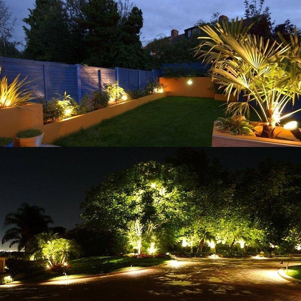 LED Landscape Lights Outdoor Spotlight 5W GU10 Bulb MR16 12V 86 265V IP65  Courtyard Garden Pathway Tree Wall Decor Spike Stand-in Outdoor Landscape  Lighting ... - LED Landscape Lights Outdoor Spotlight 5W GU10 Bulb MR16 12V 86 265V