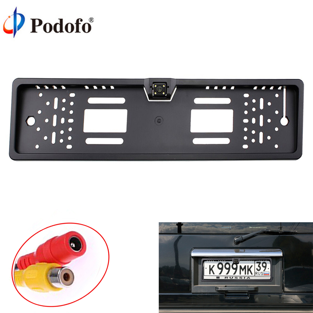 Podofo European License Plate Car Rear View Camera Auto 170 Degree Backup Parking Rearview Camera Waterproof Camera Car- StylingPodofo European License Plate Car Rear View Camera Auto 170 Degree Backup Parking Rearview Camera Waterproof Camera Car- Styling