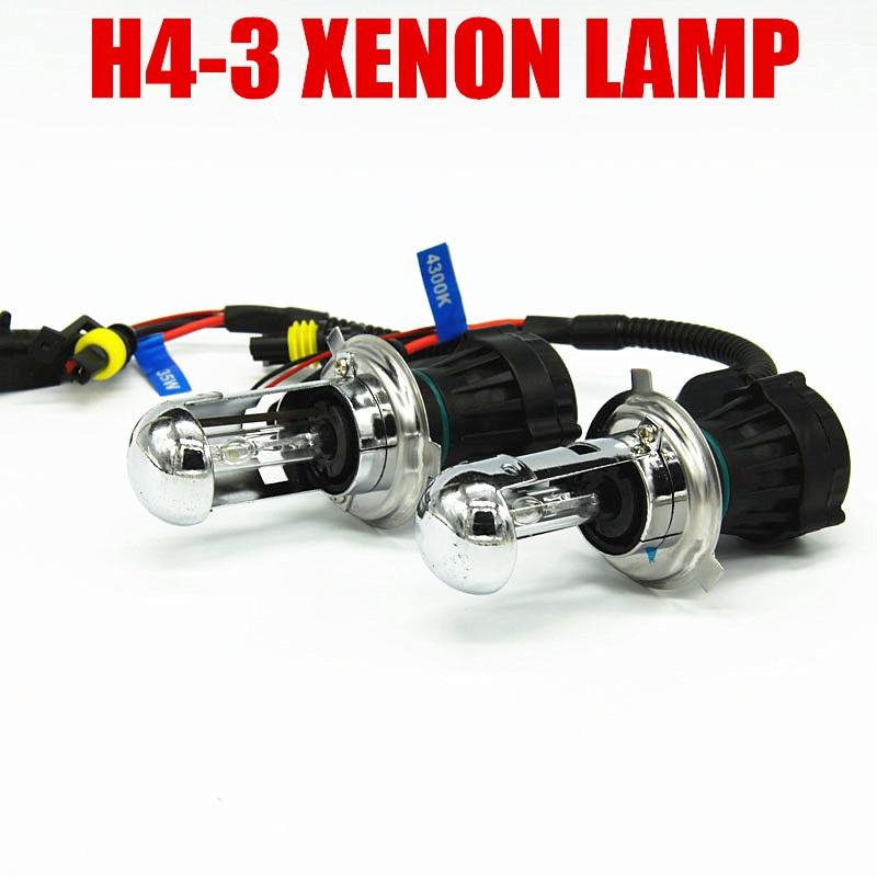 free shipping 12V XENON H4 high low beam hid H4 3 car 55w 6000k 8000k headlight