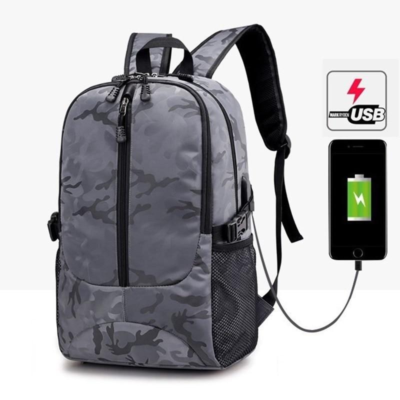 Σακίδιο φορητού υπολογιστή Φόρτιση USB Σακίδια για άνδρες Σχολική ... 7d52f9b0676