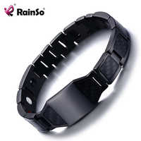 Rainso Magnetic Therapy Bracelet Benefits for Arthritis Bio Energy Bracelets Personalized Bangles Jewelry Greetings Gift 2102