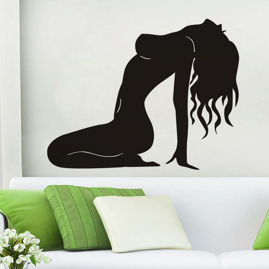 Naked Sex Lady Pose Decals Modern Wall Sticker For Girl Bedroom Wall Art Murals Home Decor Waterproof Removable Vinyl Wallpaper (3)