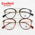 2017 new arrival fashion style retro double bridges optical frame for men and women most popular high quality eyeglasses M9621