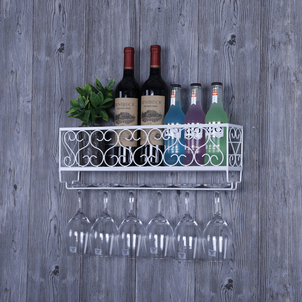 A1 1pc Goblet rack upside down glass shelf shelf wine rack red wine cup holder wall hanging wine rack decoration wx8071550 цены