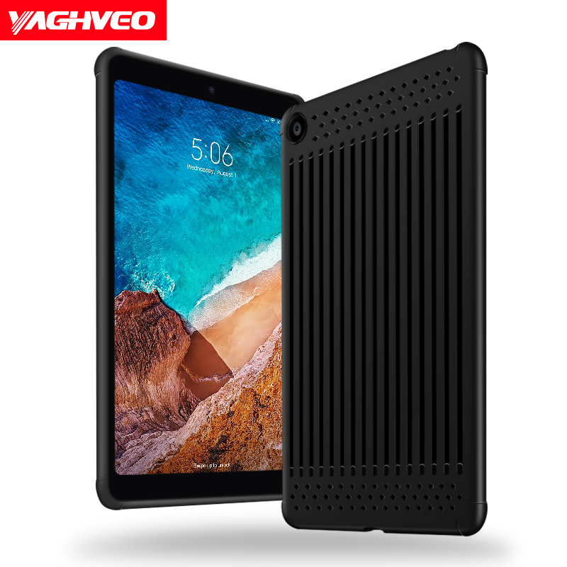 Case For xiaomi mi pad 4 Thin Soft Silicone TPU Back 8.0 10.0 inch Tablet Shockproof Coque Funda Cover For xiaomi mipad 4 plus