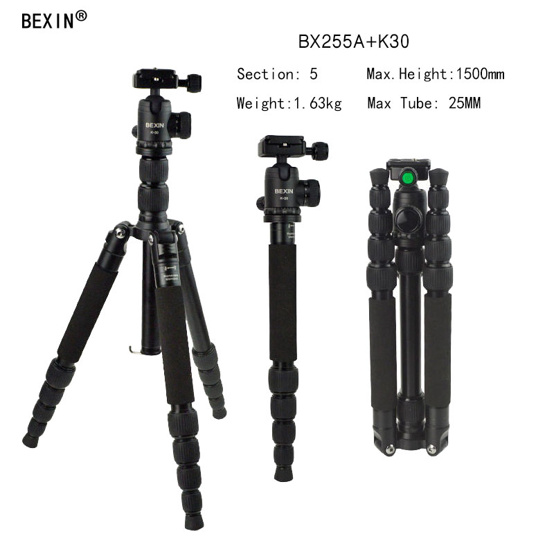 Professional Photographic Portable light tripod Monopod with Ball Head For DV DSLR Camera Stand with Travel Tripod Bag Pocket moveski q580 57inch professional portable travel tripod monopod with ball head photography tripod stand for dslr camera load 6kg