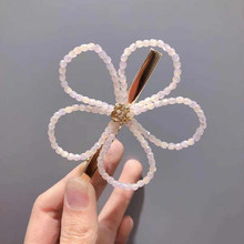 Korea Big Flower Diamond Pearl Hairpins  Hair Accessories Clips For Girls Crystal Hairgrips Bows Barrette