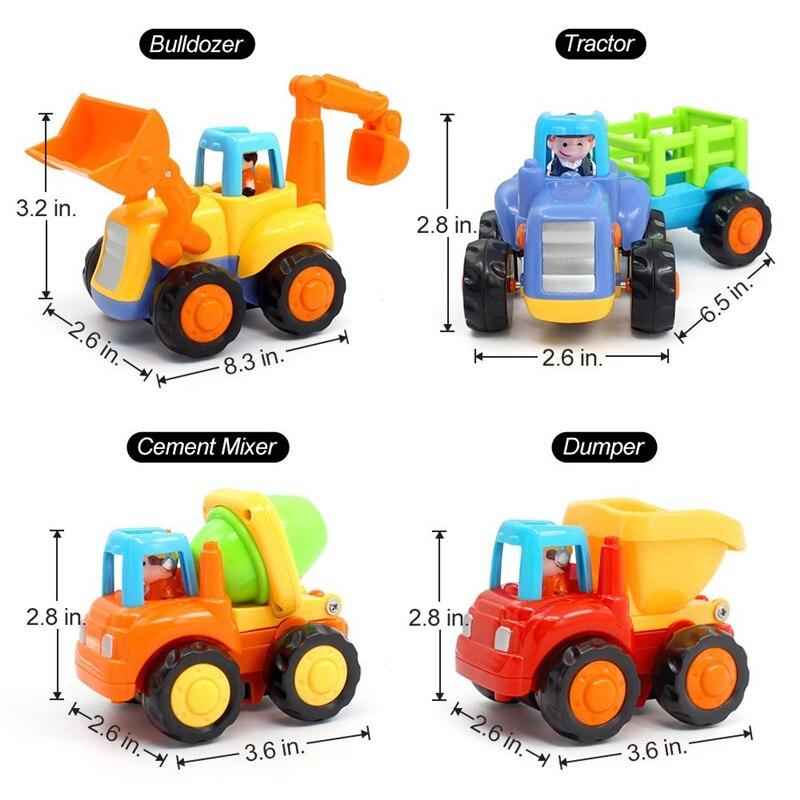 4 Variant Toy Vehicles Sizes